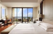 View Sheraton Shenzhou Peninsula Resort's scenic double bedroom within amazing China.