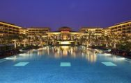 The Sheraton Shenzhou Peninsula Resort's impressive main pool situated in breathtaking China.