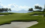 The Sanya Luhuitou Golf Course's scenic golf course within sensational China.