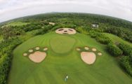 The Mission Hills Golf Club's scenic golf course in fantastic China.
