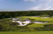 The Mission Hills Golf Club's lovely golf course in dramatic China.