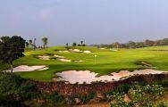 The Mission Hills Golf Club's beautiful green within dazzling China.