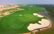 The Al Zorah Golf Club's impressive golf course situated in amazing Dubai.