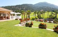 The Alhaurin Golf Course's picturesque clubhouse in pleasing Costa Del Sol.