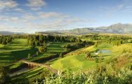 The Champagne Sports Golf Club's scenic golf course within dazzling South Africa.