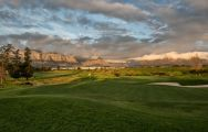 The De Zalze Golf Club's beautiful golf course within staggering South Africa.