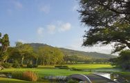 The Gary Player Country Club's scenic golf course situated in dramatic South Africa.