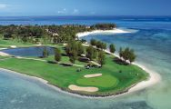 The Ile aux Cerfs Le Touessrok's impressive golf course in incredible Mauritius.