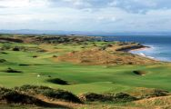 The Kingsbarns Golf Links's scenic golf course situated in marvelous Scotland.