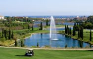 The Los Flamingos Golf Course's beautiful golf course in sensational Costa Del Sol.