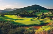 The Lost City Golf Course's lovely golf course in pleasing South Africa.