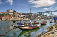 Boats on the famous River Douro that runs alongside Porto