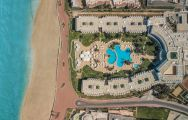 Iberostar Founty Beach hotel's scenic ariel view in faultless Morocco.