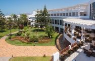 The Iberostar Founty Beach hotel's beautiful outdoor seating within brilliant Morocco.