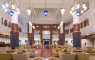 The Iberostar Founty Beach hotel's picturesque reception in incredible Morocco.