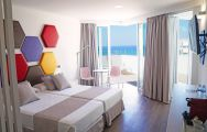 The Hotel Troya's impressive sea view double bedroom situated in breathtaking Tenerife.