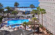 The Hotel Troya's impressive main pool situated in astounding Tenerife.