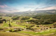 The Golf Club Castelfalfi's lovely golf course in marvelous Tuscany.