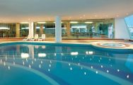 The Paraiso Albufeira Hotel's lovely indoor pool within fantastic Algarve.