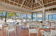 The Anahita Golf  Spa Resort's scenic Bliss Restaurant within sensational Mauritius.