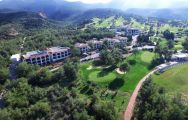 View Korineum Golf  Beach Resort's picturesque ariel view in marvelous Northern Cyprus.