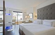 The Melia Palma Marina's beautiful double bedroom in sensational Mallorca.