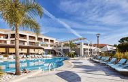The Wyndham Grand Algarve's lovely outdoor pool within dramatic Algarve.