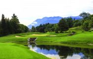 View Hotel Ermitage Evian Resort's lovely golf course situated in pleasing French Alps.