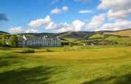 The Macdonald Cardrona Championship Course's lovely golf course in pleasing Scotland.
