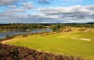 View Macdonald Cardrona Championship Course's picturesque golf course within vibrant Scotland.