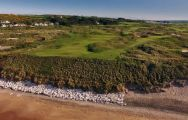 The Royal Portrush Golf Club's lovely golf course situated in staggering Northern Ireland.