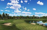 The Bay Hill Golf Club's beautiful golf course situated in marvelous Florida.