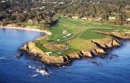 Pebble Beach Golf Links carries among the premiere golf course around California