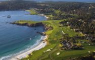 View Pebble Beach Golf Links's lovely golf course in amazing California.
