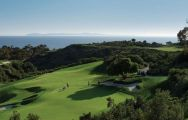 View Pelican Hill Golf Club's impressive golf course situated in dazzling California.