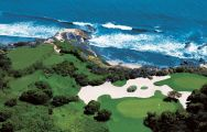 View Pelican Hill Golf Club's lovely golf course situated in pleasing California.