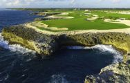 The Puntacana Golf Club's lovely golf course within brilliant Dominican Republic.