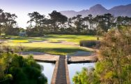 The Steenberg Golf Club's lovely golf course within impressive South Africa.