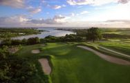 View Casa De Campo Golf - Dye Fore Course's picturesque golf course in dramatic Dominican Republic.