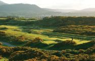 The Royal County Down Golf Club's picturesque golf course in dazzling Northern Ireland.