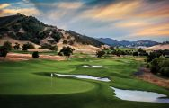 The CordeValle Golf's scenic golf course in vibrant California.