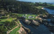 The Cypress Point Club's beautiful golf course situated in faultless California.