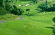 teeing off at almenara golf course
