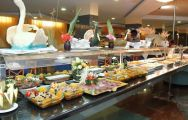 buffet in the restaurant