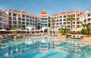 the hilton vilamoura hotel and swimming pool