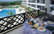 breakfast overlooking the pool of the formosa park