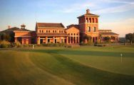 close up view of la reserva clubhouse