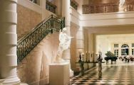 a marble staircase