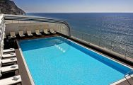 the roof top swimming pool