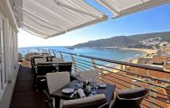 the roof terrace at the Sana Sesimbra Hotel